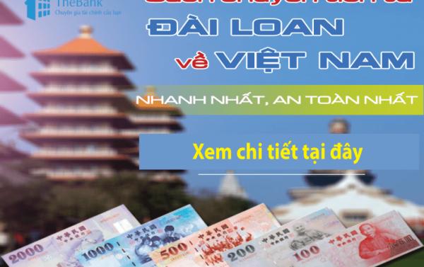 Chuyển tiền hai chiều Đài Loan và Việt Nam