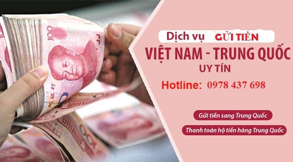 Dịch vụ gửi tiền sang Trung Quốc nhanh chóng