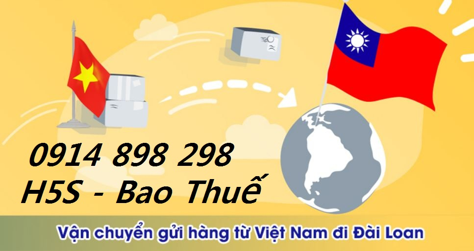 Bảng giá gửi hàng đi Đài Loan bao thuế
